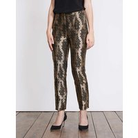 Boden Jacquard Party Trousers Gold Women Boden, Gold