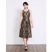 Jacquard Party Dress Gold Women Boden, Gold