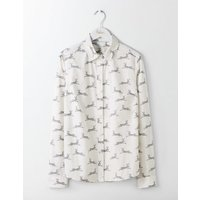 The Classic Shirt Natural Women Boden, Natural