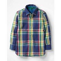 Double Cloth Shirt Navy Boys Boden, Navy