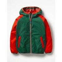 Packaway Waterproof Jacket Green Boys Boden, Green