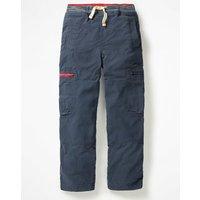 Lined Pull-on Cargos Navy Boys Boden, Navy