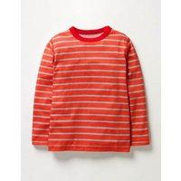 Supersoft T-shirt Ziggy Red/Grey Marl Boys Boden, Ziggy Red/Grey Marl
