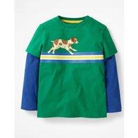 Active Animals T-shirt Green Boys Boden, Green
