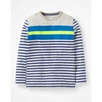 Stripy T-shirt Grey Boys Boden, Grey