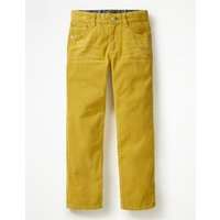 Slim Cord Jeans Yellow Boys Boden, Yellow