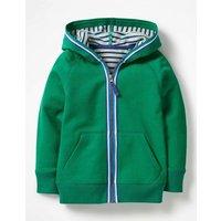 Essential Zip-up Hoodie Green Boys Boden, Green