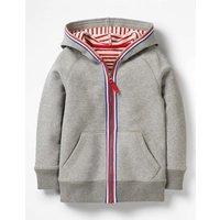 Essential Zip-up Hoodie Grey Boys Boden, Grey