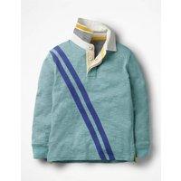 Rugby Shirt Blue Boys Boden, Blue