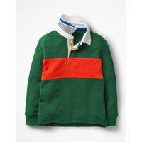 Rugby Shirt Green Boys Boden, Green