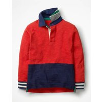 Rugby Shirt Red Boys Boden, Navy