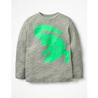 Neon Pop Animal T-shirt Grey Boys Boden, Grey