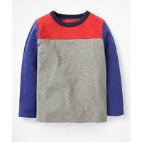 Sporty Colourblock T-shirt Grey Boys Boden, Grey