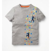 Sporty Graphic T-shirt Grey Boys Boden, Grey