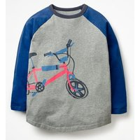 Sporty Raglan T-shirt Grey Boys Boden, Grey