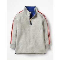 Half-Zip Sweatshirt Grey Boys Boden, Grey