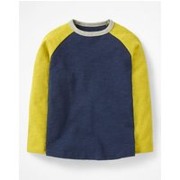 Raglan T-shirt Navy Boys Boden, Navy