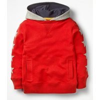 Johnnie B Sporty Hoodie Red Boys Boden, Red