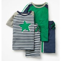 Twin Pack Short Pyjamas Navy Boys Boden, Navy