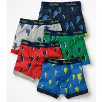 5 Pack Boxers Green Boys Boden, Multicouloured