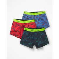 3 Pack Jersey Boxers Multi Boys Boden, Multicouloured