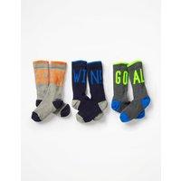 3 Pack Ribbed Socks Multi Boys Boden, Multicouloured