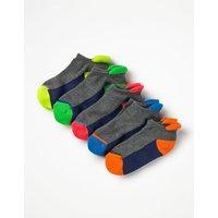 5 Pack Trainer Socks Multi Boys Boden, Multicouloured