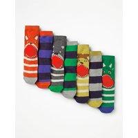 7 Pack Sock Box Multi Boys Boden, Multicouloured