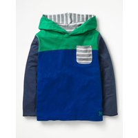 Reversible Hooded T-shirt Blue Boys Boden, Blue