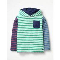 Reversible Hooded T-shirt Green Boys Boden, Green