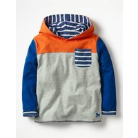 Reversible Hooded T-shirt Grey Boys Boden, Grey