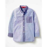 Hotchpotch Laundered Shirt Blue Boys Boden, Blue