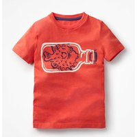 High Seas T-shirt Red Boys Boden, Red