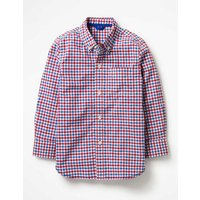 Laundered Shirt Red Boys Boden, Red