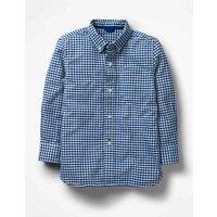 Oxford Shirt Blue Boys Boden, Blue