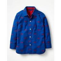 Double Cloth Shirt Blue Boys Boden, Blue