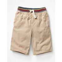 Rib Waist Shorts Natural Boys Boden, Natural