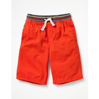Rib Waist Shorts Red Boys Boden, Red