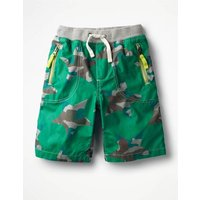 Adventure Shorts Green Boys Boden, Multicouloured