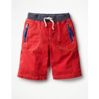 Adventure Shorts Red Boys Boden, Red