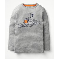Graphic Sports T-shirt Grey Boys Boden, Grey