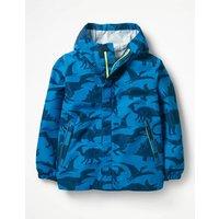 Packaway Waterproof Jacket Blue Boys Boden, Blue