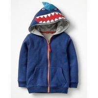 Shark Zip-through Hoodie Blue Boys Boden, Blue