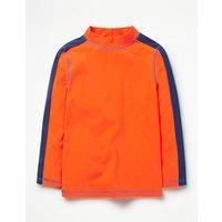 Rash Vest Orange Boys Boden, Orange