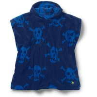 Towelling Poncho Blue Boys Boden, Blue