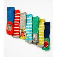 7 Pack Sock Box Blue Boys Boden, Blue