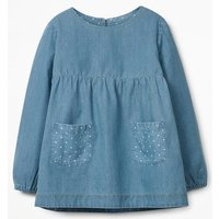 Floaty Chambray Top Denim Girls Boden, Denim