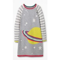 Fun Knitted Dress Ivory Girls Boden, Ivory
