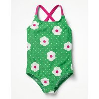 Cross-back Swimsuit Green Girls Boden, Green