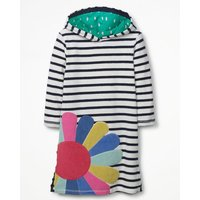 Applique Towelling Beach Dress Navy Girls Boden, Navy